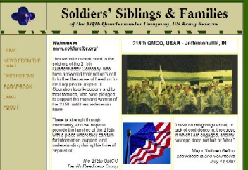 Soldiers, Siblings & Families of the USAR 215th QMCO